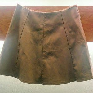 F21 faux leather skirt