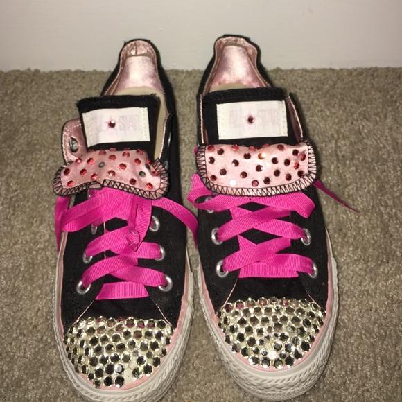 da6a4a8ae50b Converse Shoes - Women s Blinged Out Rhinestone Pink Converse