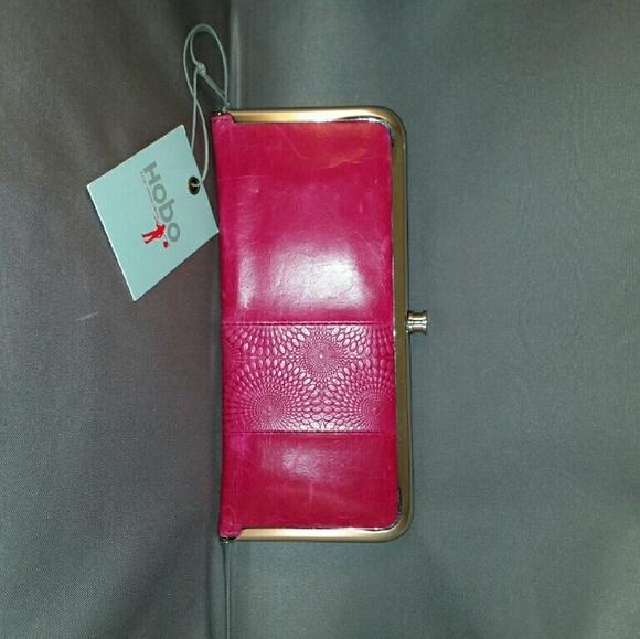 NWT Hobo International LINN Credit Card Slide Stacker Leather Wallet Indigo Blue