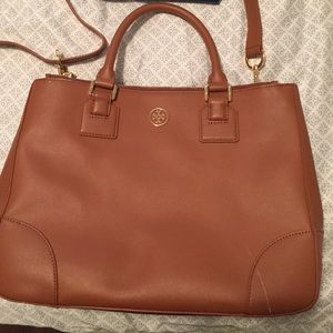 Tory Burch Large Double Zip Robinson Tote