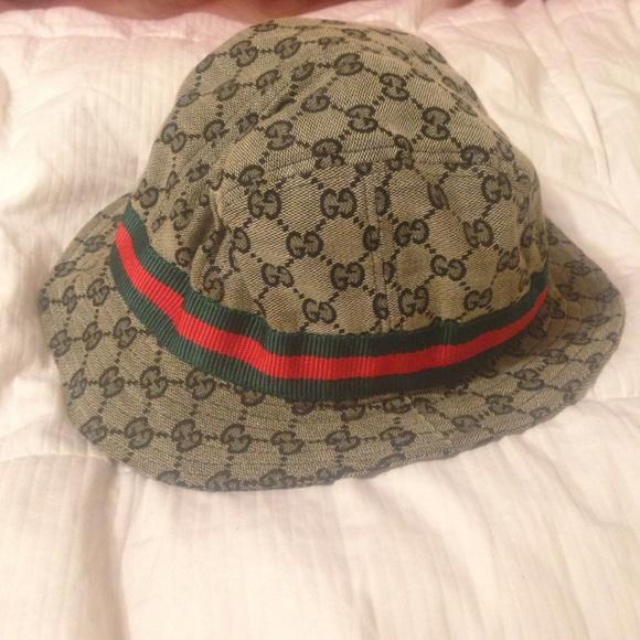 7c33d856 Gucci Accessories   Vintage Canvas Fedorabucket Hat   Poshmark