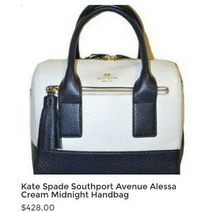 Kate Spade Handbag ALESSA Midnight Cream