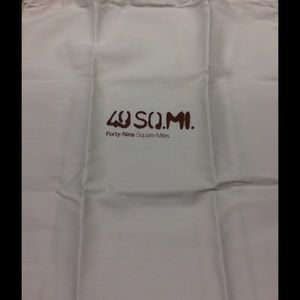 49 Square Miles purse or dust bag