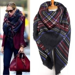HOST PICKBlanket Scarf black/blue/red/yellow