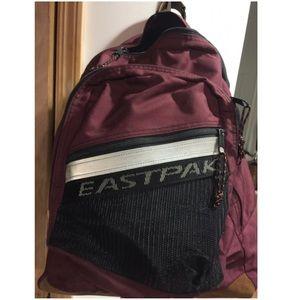 Eastpak Handbags - Eastpak's dark burgundy   black/white backpack