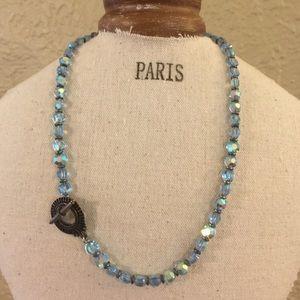 "Jewelry - Light blue AB sparkly 16"" choker"