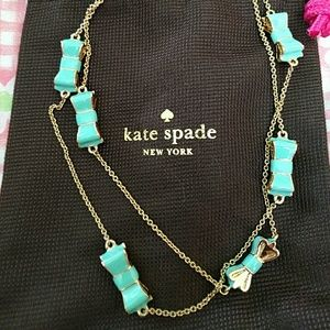 ⭐️SALE⭐️NWT Kate Spade mint green bow necklace