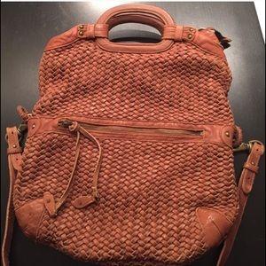 Cole Haan Handbags - Cole Haan NWOT Woven Leather Foldover