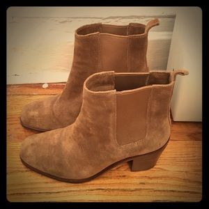 Vince Camuto Light Suede Booties