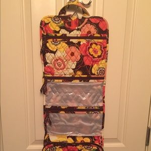 Vera Bradley Buttercup hanging cosmetic organizer
