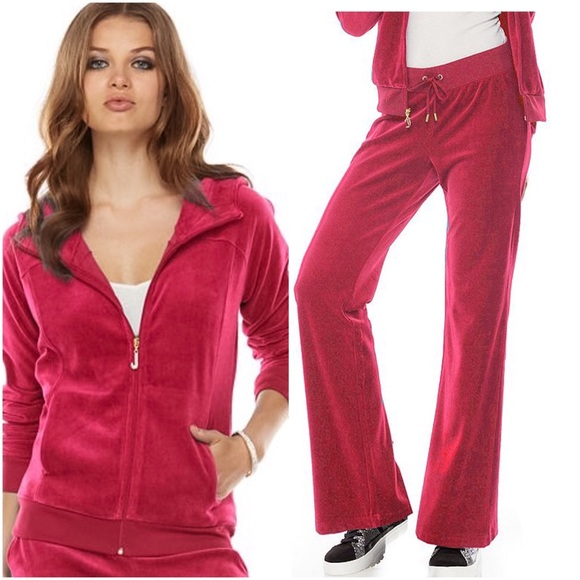 e0b8cacc9303 JUICY COUTURE Pink Velour Tracksuit