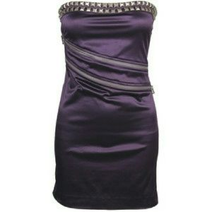 💄 Zip Unzip Studded Silky Dress💄