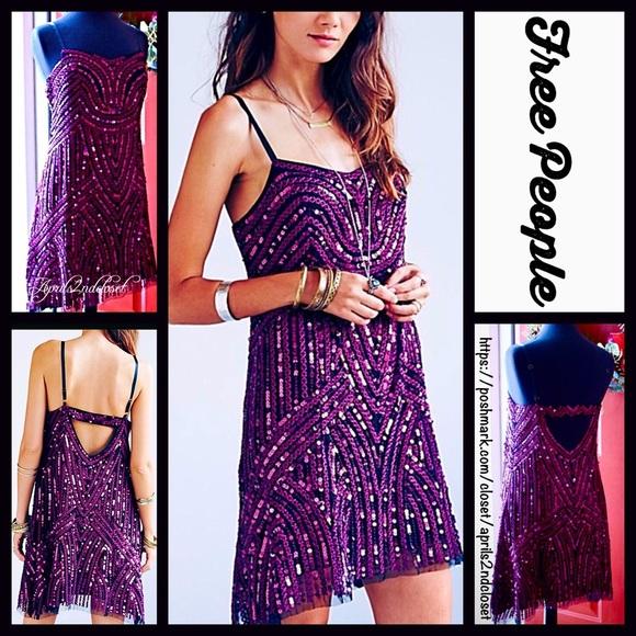 34eff42923 FREE PEOPLE Sequin Dress Embellished