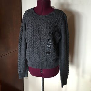 Banana Republic Gray Cable Knit Sweater S NWT