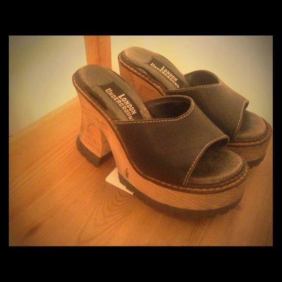 69faf428950 London underground Shoes - 90s chunky London Underground platform heels