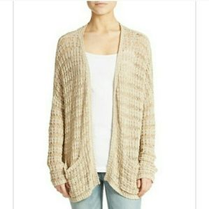 NWT Free People tan-knit long sleeved sweater