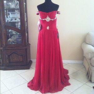 Terani Couture Dresses & Skirts - New Terani Couture Red Evening Gown Dress