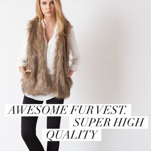 Dynamite Jackets & Blazers - Super awesome fur vest. Must have