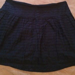 Black and blue skirt