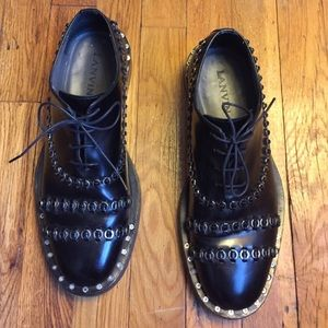 Lanvin runway studded lace-ups