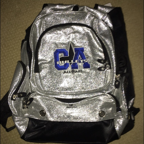 5854e34909 California all-Stars silver glitter backpack