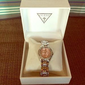 Silver and Pink Guess Watch ⌚️