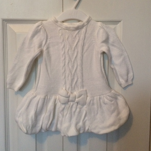 White Sweater Dress For Baby Girl 88