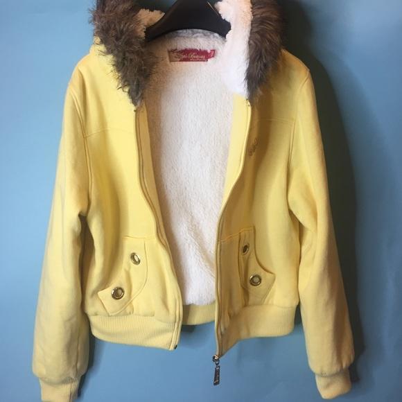 Apple Bottoms Jackets Coats Yellow Bomber Jacket In Kids L Women