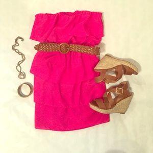 Lily Rose Dresses & Skirts - Ruffled Pink Dress