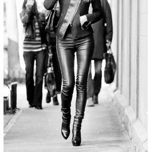 DYNAMITE Black Leather Leggings