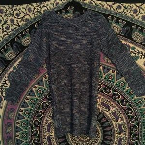 Knit sweater dress with zipper