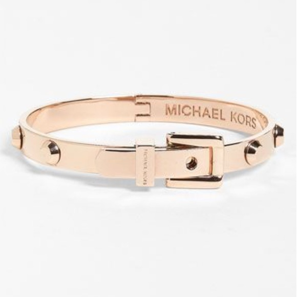 37 off Michael Kors Jewelry Rose Gold Astor Buckle Bracelet Poshmark