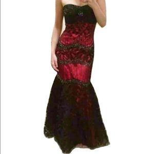 Dresses & Skirts - Vintage Style Red Black Prom Dress Retro 1920s