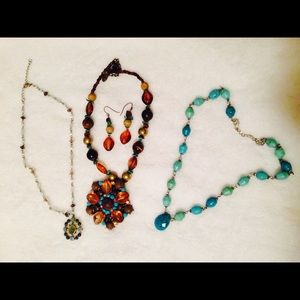 Jewelry - My Aqua bundle - necklaces and earring sets