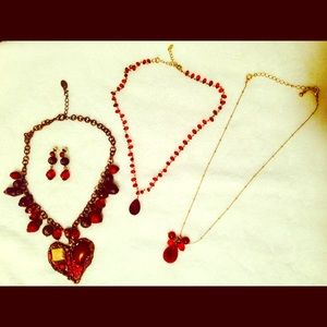 Jewelry - My red bundle - necklaces and earrings set