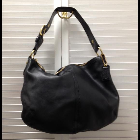 c85e568eed30 ... sale sold coach soho large hobo leather black bag afebd 1b9f0