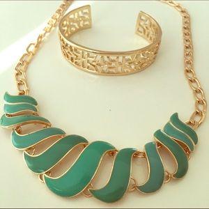 Gold & Aqua Jewelry Duo 