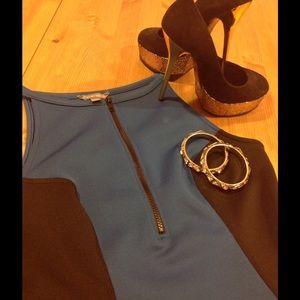 Tinley Road Dresses & Skirts - NWOT Color block scuba like dress👗