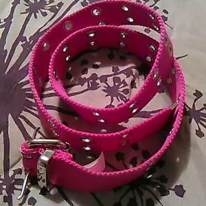 Accessories - Hot pink belt . grommet details. New. Never worn.