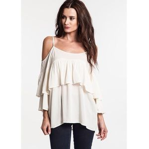 """Creme de la Creme"" Off Shoulder Peasant Top"