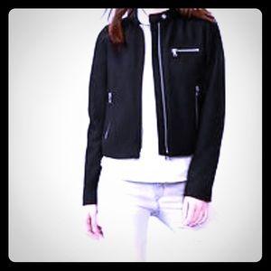 GAP Jackets & Blazers - HOST PICK!! GAP black wool moto jacket NWOT 👍🏻 !