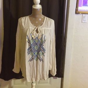 Pretty Embroidered Bohemian Top