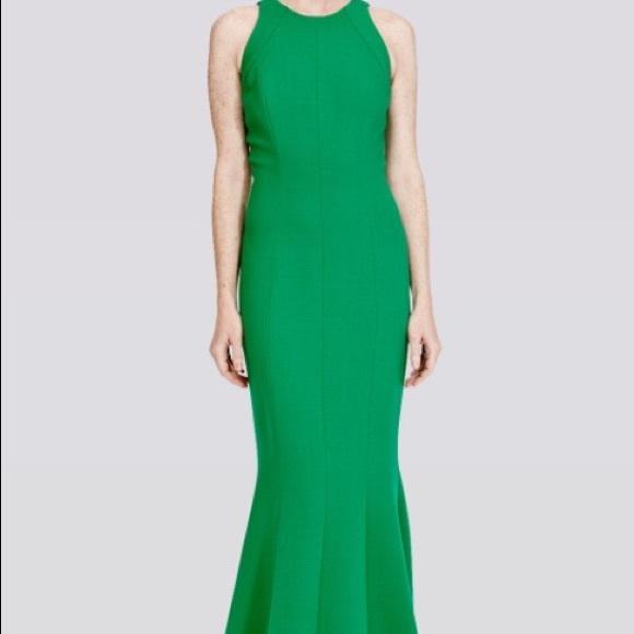 75% off Carmen Marc Valvo Dresses Emerald Green Gown | Poshmark