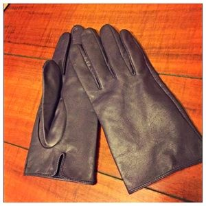 Express Purple Leather Gloves