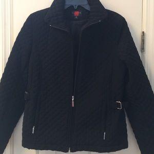 Gallery Jackets & Blazers - Black Quilted Light Weight zip jacket Medium