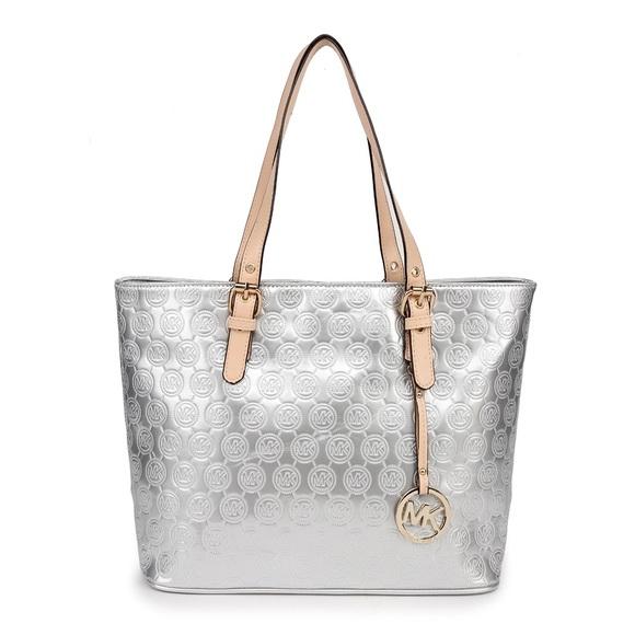 f624a28b8120 MICHAEL Michael Kors Bags | Michael Kors Signature Mirror Metallic ...