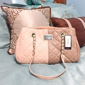 Nine West Blush and Taupe Satchel