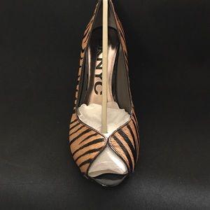 DKNY Shoes - New DKNYC zebra print peep toe- size 9.5m