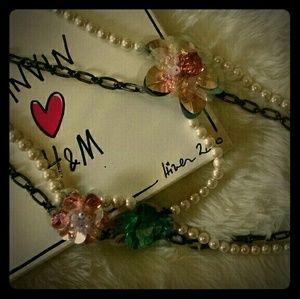 Lanvin for H&M necklace with intricate flowera