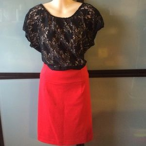 Red skirt size 14- good condition